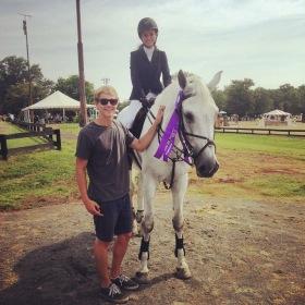 Cindy Buffart and Eros at HITS Culpeper